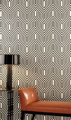 Modern graphic wallpaper: Osborne & Little's 'Minaret' | Flickr: Intercambio de fotos