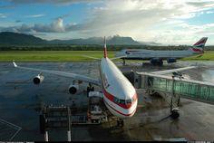 """Air Mauritius Airbus A340-313 3B-NBE """"Paille en Queue"""" at Mauritius-Sir Seewoosagur Ramgoolam International, March 2005. (Photo: Andreas F. Daemmig)"""