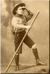 Love this studio shot of a young scout.