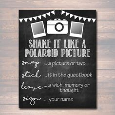 New Wedding Signs Photo Booth Polaroid Pictures Ideas Polaroid Photo Booths, Polaroid Pictures, Photo Guest Book, Guest Book Sign, Graduation Party Decor, Grad Parties, Birthday Parties, Lego Parties, Diy Wedding Photo Booth
