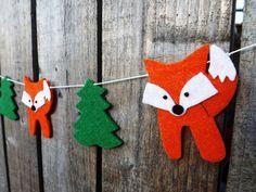 Fox Garland Woodland Nursery Fox Decor Woodland by FeltWitch