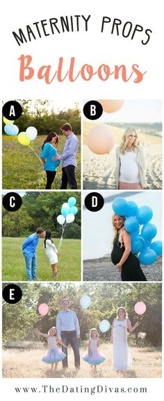 Maternity Photography Inspiration with Balloons