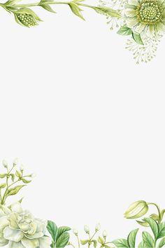 رسمت باليد الزهور الحدود الخضراء, الحدود المرسومة باليد, زهرة الحدود, رسمت باليد الزهور PNG و PSD