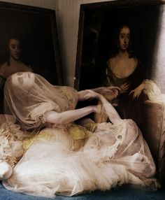 pose wise maybe, but less extravagant, of course Guinevere Van Seenus for Vogue Italia by Tim Walker