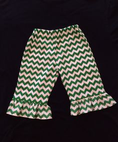Baby Girl and Toddler Girl Ruffle Pants Chevron, Quatrefoil, Zebra Stripe or Polka Dots 3, 6,12,18,24 months 3T    by PurttyStitches on Etsy https://www.etsy.com/listing/206187488/baby-girl-and-toddler-girl-ruffle-pants
