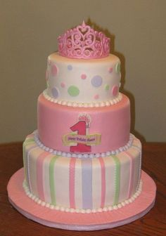 Baby Girl's First Birthday....my daughter will definitely have this...  ONE DAY...!!!