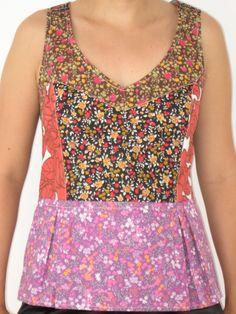Blusa Cupcake - patchwork