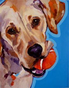 Pet portrait. Lazy dog art.  Pet portrait artist Susie Hooban