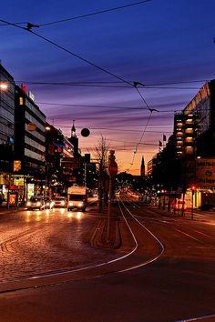 Mannerheimintie Street by night, Helsinki 2007 by Lucio Gonzales