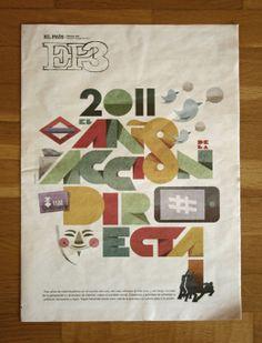 """""""2011 El año de la acción directa""""  Portada para la edición impresa de EP3. Lawerta"""