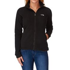 Black North Face Fleece Black North Face fleece jacket. Zip up. Zipper pockets. Size small. There is some wood glue on the bottom left hand side near the pocket. North Face Jackets & Coats