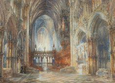 Sir Wyke Bayliss – Interior of Ely Cathedral (Ship of the Fens)  – 1870 – Private Collection