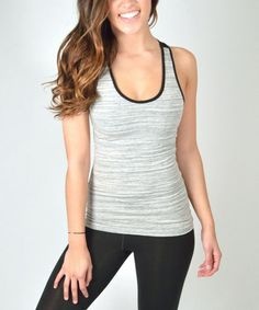 This Black Marble Keyhole Tank is perfect! #zulilyfinds