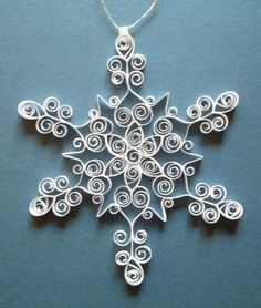 quilled snowflake ornament/pendant...