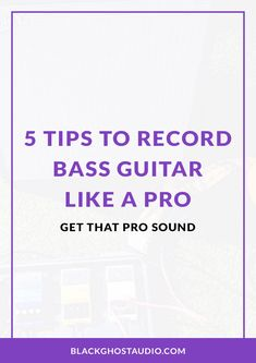 Learn how to use a process to capture better bass recordings. Like A Pro, Music Production, Bass, Guitar, Tutorials, Learning, Audio, Tech, Study