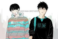 Mob Psycho 100 - Kageyama brothers by COCONUT