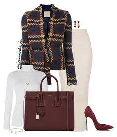 """Untitled #1718"" by visionsbyjo on Polyvore featuring Erika Cavallini Semi-Couture, Lauren Ralph Lauren, Yves Saint Laurent, Casadei, David Yurman, Louis Vuitton and MANGO"