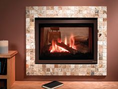 Heat and Glo ST-550T See-Through Gas Fireplace- Don't like brown surround but like the fireplace