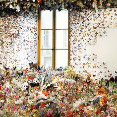 Flora and Fauna Escape the Confines of Over 1,000 Repurposed Books