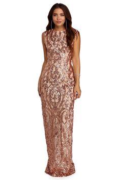 d2c93214a8c FINAL SALE -Hailey Rose Gold Open Back Sequin Dress