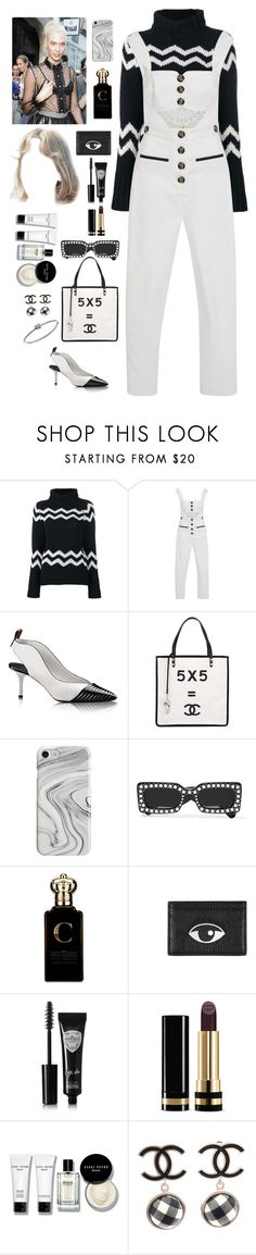 """Self Portrait fashion show with Karlie in France"" by a-never-want-to-grewer99 ❤ liked on Polyvore featuring Joseph, self-portrait, Chanel, Recover, Gucci, Clive Christian, Kenzo, Eyeko, Bobbi Brown Cosmetics and Michael Kors"