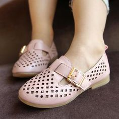 Kids Buckled Perforated Sandals from #YesStyle <3 Shiba YesStyle.com