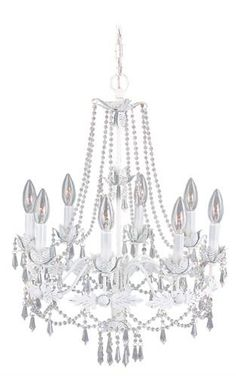 Athena Chandelier (LVX-8188-60). Athena - Chandelier - Antique White - 20 x23.5 Product Specifications Fixture Type Chandelier Collection Athena Finish Antique White Glass ----- Dimensions 20 x23.5 Wattage 8 60w Cand Weight 8 Lbs.. See More Chandeliers at http://www.ourgreatshop.com/Chandeliers-C1008.aspx