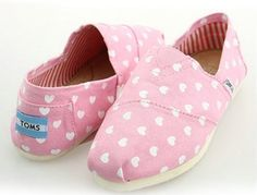 Toms Womens Hearts Classic Shoes Pink