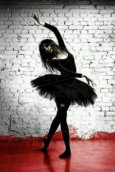 Goth Gothic ballerina...So I think I have an inner goth dying to get out out at times, there is just something so beautiful about this photo to me