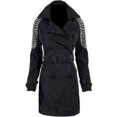 Black studded trench coat NWOT Black studded trench coat Jackets & Coats