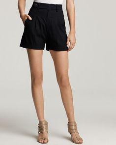 Vince High Waist Linen Shorts