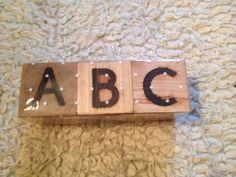 Abc cubes £10.00