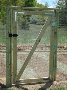 Handmade garden gate