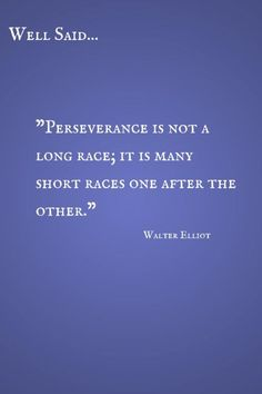Well Said: Perseverance Quote by Walter Elliot CereusArt