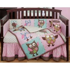 Bananafish Calico Owls Crib bedding set we just ordered Adriana!! So excited!!! Now I just need the accessories!!!