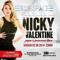 02/08 ♥ Nicky Valentine estreia nova Tournée em São Paulo ♥  http://paulabarrozo.blogspot.com.br/2014/08/0208-nicky-valentine-estreia-nova.html