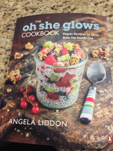 So I decided on a book! and the winner is.....The Oh She Glows Cookbook (vegan recipes to glow from the inside out) by Angela Liddon. I will try and make as many recipes as I can in a week and will...
