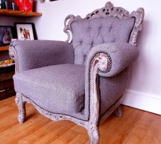 Do you have a chair that you don't really want to get rid of but don't really use anymore?  Upcycle it and remake it into a brand new chair!