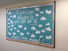 Social Bulletin Board - Residents could write their dreams on the clouds