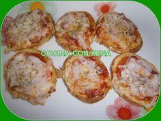 Mini pizzas de patatas