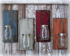 Hey, I found this really awesome Etsy listing at http://www.etsy.com/listing/164134837/mason-ball-jar-reclaimed-wood-wall