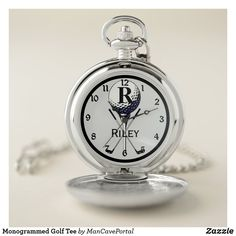Monogrammed Golf Tee Pocket Watch Personalized Pocket Watch, Pocket Watches, Personal Shopping, Make A Gift, Cool Watches, Apple Watch, Portal, Colorful Backgrounds, Quartz