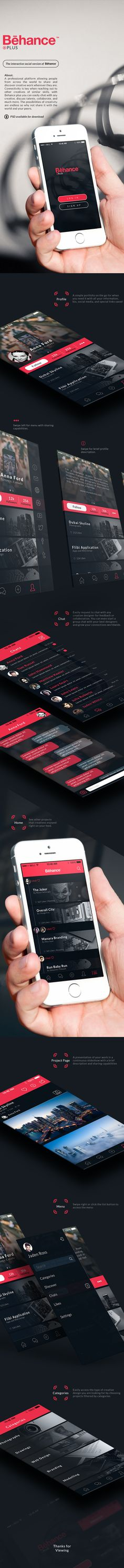 Behance Plus iPhone App on Behance