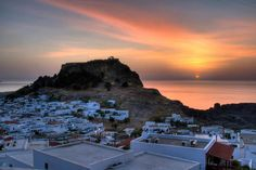 Peace and calm . from the warm colors . that gives us the sun during the sunset . in Lindos, Rhodes! Rhodes, Greek Islands, Warm Colors, Rhode Island, Best Hotels, Places Ive Been, Mount Rushmore, Greece, Beautiful Places