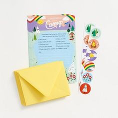 Set of 10 writing sheets paired with 10 sunshine A2 envelopes. Also includes 12 assorted coordinating stickers to seal the envelopes or add to the newsletter for decoration!<br><br>Size - A9
