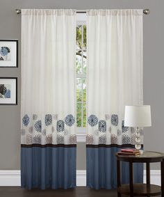 Look at this Blue Tender Blossom Curtain Panel - Set of Two on #zulily today!