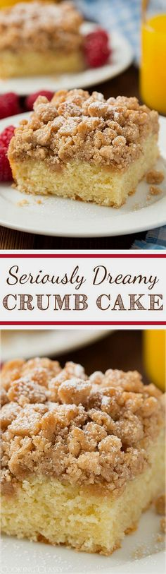 Crumb Cake - this is my FAVORITE breakfast cake! It has tons…