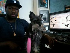 50 Cent and his dog, Oprah :-D