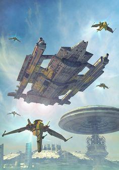 Battleship, art by Luca Oleastri - www.innovari.it #scifi #illustrator