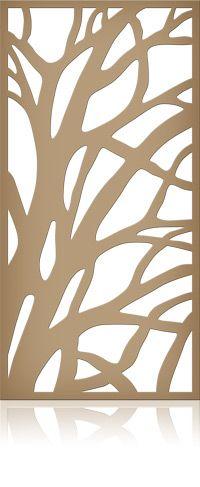 Ажурная декоративная перегородка из фанеры или дерева для зонирования пространства в комнате, квартире, офисе, артикул 02